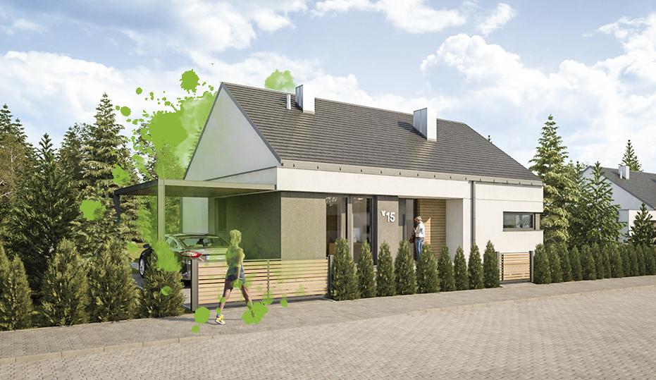 Projekt domu jednorodzinnego - Osada Świerkowa